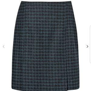 L.K. Bennett Selene houndstooth pleat skirt sz 8